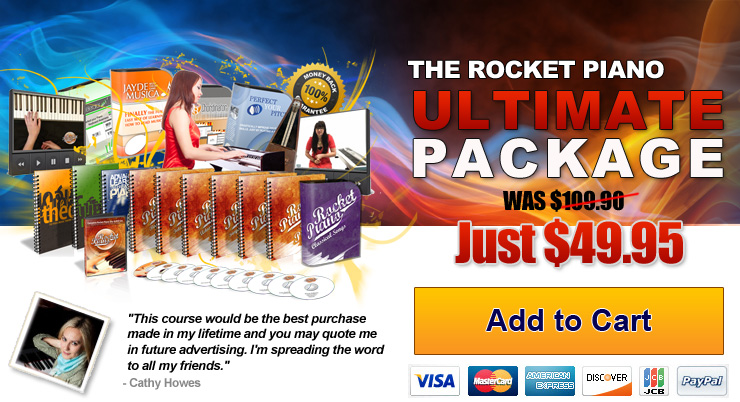 Rocket Piano Ultimate Package 40% off deal - 'order now' button